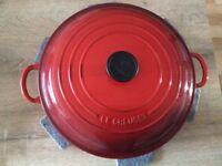 BNWB - Le Creuset 30 cm Shallow Casserole in Cerise