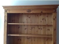 hand made pine shelf unit