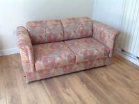 Comfy clean sofa vintage Parker Knoll in light terra cotta