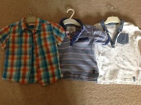 3 boys shirts/tops blue zoo, junior j and f & f - size 18-24 months