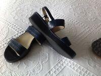 Navy Hobbs Sandals