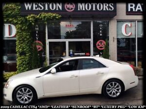2009 Cadillac CTS 4 *AWD *LEATHER *SUNROOF *BT *LOW KM *LUXURY P