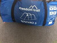 Tent with camping equipment