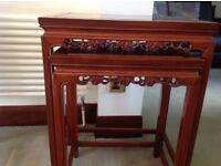 Rose wood Nest of 2 tables