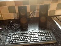 Logitech X-140 multimedia speakers. Computer, games, music. Free keyboard