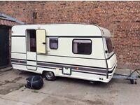 Rare burstner holiday lightweight caravan 4 birth not hymer eriba