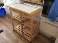 Kitchen Workbench/Trolley on castors