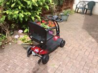 Mobility scooter. Hardly used. Fits in car boot. With weather cover, bag. Cost £478 June 2017