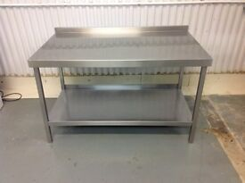 stainless steel kitchen prep table