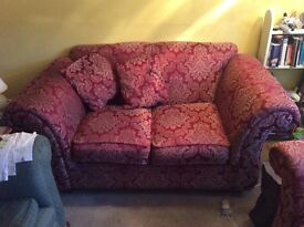 Red kirkdale 2 seater sofa & matching chair