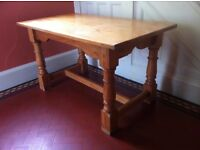 Large Chunky Solid Wood Farmhouse Dining Table Kitchen Island Butchers Block / Can Deliver
