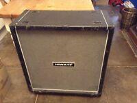 Hiwatt 4x12 speaker cabinet on castors only £45 tel Liz 07933 398348