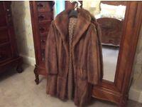 Genuine mink coat