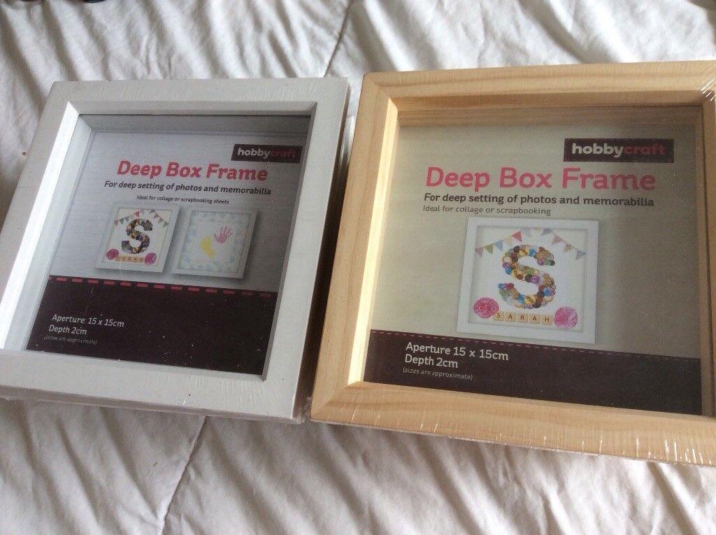 ed9af0d28da New Hobbycraft Deep Box Frames Photos Craft X 8 Rrp 48 Collect Bs11