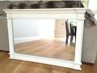Large white mirror in excellent condition