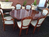 Italian Dining Table & Chairs, Like New.