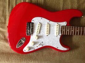 Fender Strat Squier red