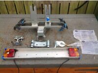 Twinny Bike Rack , Stabiliser, Light Bar & Pendle TA Towbar Bracket,Needs Support Bars