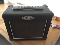 kustom guitar practice amp, perfect for home use. Good distortion channel and digital revaerbs