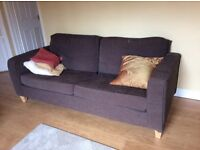 3 piece suite in brown cord