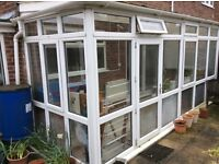 CONSERVATORY 5.45M x 1.83M GLASS AND PVC PARTS