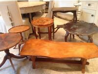 solid wood coffee tables £25 each