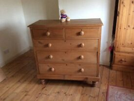 Old Pine Chest of Drawers. Been in the family for more than 30 years