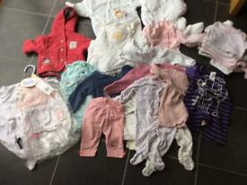 Newborn upto a month old baby girl clothes