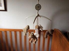 Mamas Papas Teddy Bears Musical Cot mobile