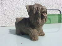 Concrete garden Yorkshire terrier ornament
