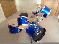 Ashton kids drum kit - Metallic Blue