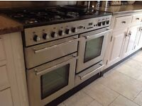 Dual-fuel stainless steel Rangemaster in excellent overall condition for sale