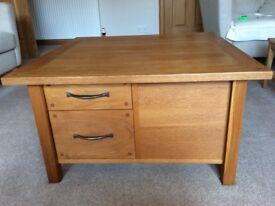 Solid oak coffee table by Laura Ashley