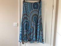 Per Una Skirt, Blue/Multi