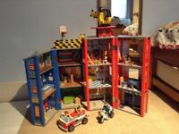 Kidcraft Everyday Heroes Wooden Police and Fire Station