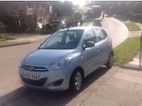 HYUNDAI i10 CLASSIC, SILVER. LOW MILEAGE. FULL SERVICE HISTORY. EXCELLENT CONDITION