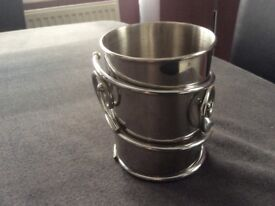 Silver Coloured Container/Stand