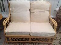 2 x Cane sofa's
