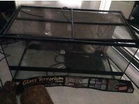 FOR SALE used glass vivarium viv terrarium reptile habitat & accessories pick up Paisley
