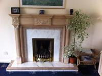 Bespoke Fireplace Surround and Marble Backing