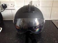 Black diesel motorbike helmet