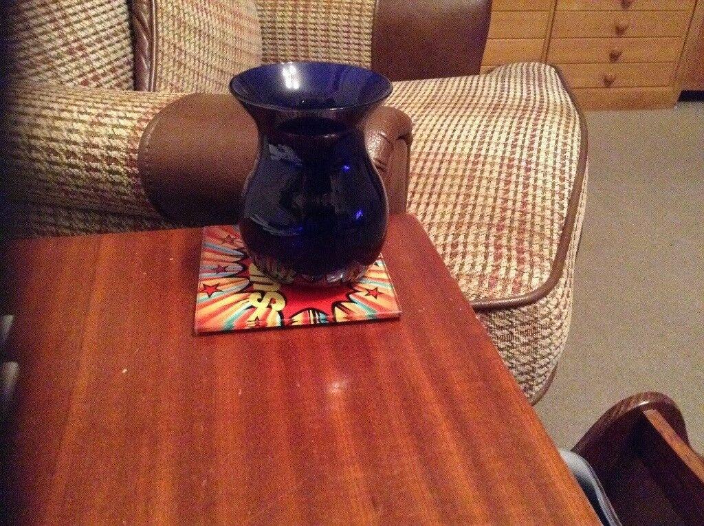 Small Bristol Blue Glass Vase In Nailsea Bristol Gumtree
