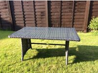 Papaver grey rattan table brand new