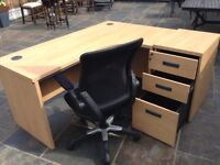 Quality Office Desk with Matching Pedestal