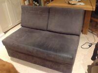 Double Sofa Bed - dark brown