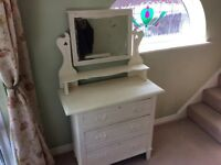Antique Pine Dressing Table With Drawers