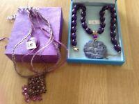 Two purple necklaces