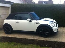 MINI, Pepper White Cooper S Convertible, Only 26k Miles, FDSH, Loung Leather Heated Seats, Superb