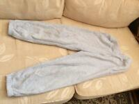 Unisex grey plain joggers age 7-8 years