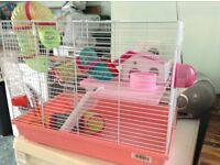 two tier hamster cage with all accessories